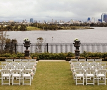 White Folding Chairs Ceremony