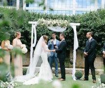 Romantic Rose Garden Ceremony
