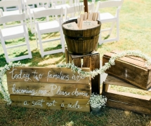 Rustic Garden Ceremony