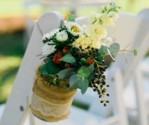 Rustic Hanging Ceremony Flowers