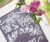 White Chalkboard Ceremony Sign