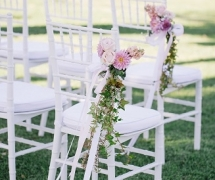 White Tiffany Chair Park Ceremony