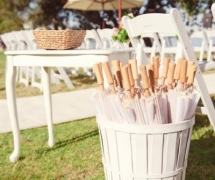 White Wedding Parasole Umbrella