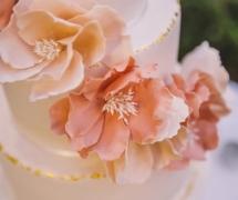 Gold and Blush Cake De La Rose Cakes