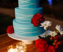 Teal blue Cake Mt Elisa House Wedding