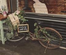 Vintage Bike Wishing Well