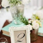 Cream Table Number Frame for hire