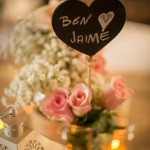 Heart Shaped Chalkboard Table Number Hire
