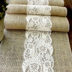 Hessian and Lace Runner for hire