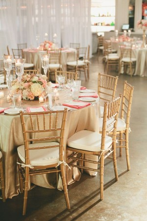 Modern Pink Mint Gold Wedding