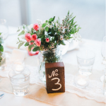 Rustic Wood Table Numbers Hire