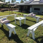 White Bench Sets