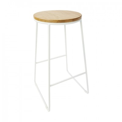 White Metal Leg Stools
