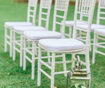 Lanterns with White Tiffany Chair Ceremony