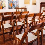 Brown Wooden Folding Chairs