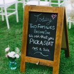 Brown Rustic Chalkboard Hire